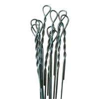 a bundle of galvanized single looped bale ties