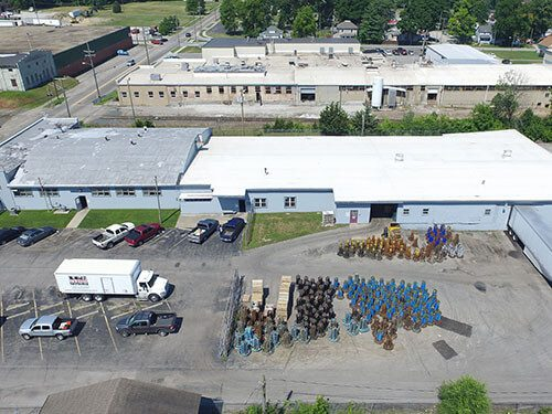 aerial view of the midwest bale ties indianapolis office